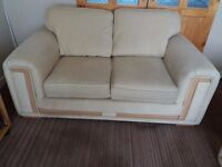 3 seater sofa, 2 seater sofa & 1 chair, beige fabric, good, clean condition. Mossley area. £250