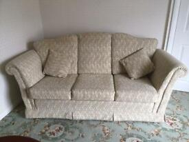 Barker and Stonehouse three piece suite and matching stool