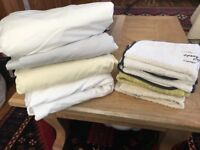 King size cotton fitted sheet and towels