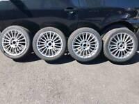 "15"" 4x108 alloys wheels with tyres ford Peugeot citroen fiesta saxo 106 206"