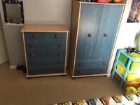 Kids wardrobe and drawers