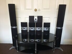 Pioneer Home Cinema High End Surround (7) Speakers, Crisp Clear High Quality Sound, Fully Working.