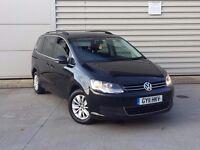 2011 Volkswagen Sharan 2.0 TD BlueMotion Tech SE MPV diesel black***GOOD SPEC**HIGH MILES