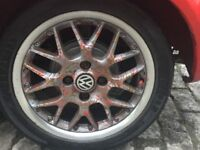 """BBS alloys 15"""" wanting swapz with a set of 4x100 7j Tim's and tyres."""
