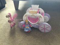ELC wooden unicorn drawn princess carriage