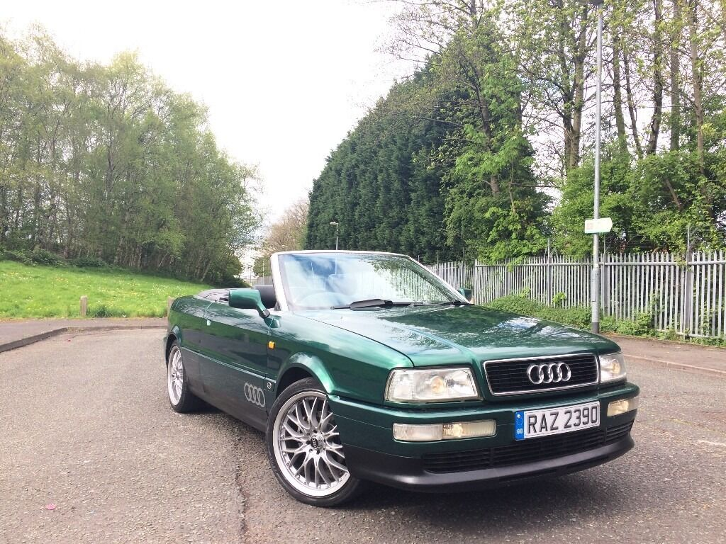 1997 r reg audi 80 cabriolet 2 6 v6 auto classic tax tested cactus pearl green px bargain. Black Bedroom Furniture Sets. Home Design Ideas