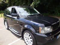 RANGE ROVER SPORT 4.2 V8 SUPERCHARGED. 55 REG IN BUCKINGHAM BLUE, 80,000 MILES LOW TAX BRACKET £290
