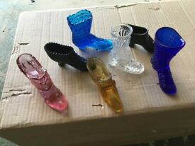 Collection of Decorative Glass Shoes