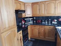 A solid oak fitted kitchen for sale
