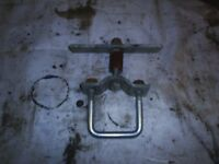 spare wheel bracket for trailer or trailer tent fits most wheels