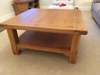 M&S Solid Oak Square Coffee Table