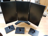 3 way monitor stand WITH 3 Samsung S24C200 monitors