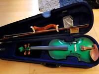 Emerald green beginners violin