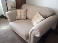 Heart of House Windsor 2 Seater Cuddle Chair - Cream/Natural