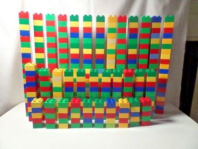 Lego Duplo-Lot of 100 (2x2) Blocks Assorted Colors-Free Shipping