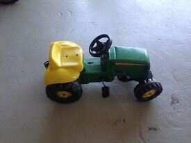 Ride on Tractor with two trailers