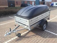 Brenderup 1205XL 55cm side car box trailer THULE + ABS lid