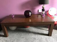 Dark wood coffee table REDUCED £15