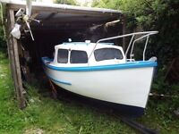 15.5 FISHING BOAT WITH 25hp ENGINE