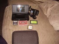 nintendo ds lite with games pokemon