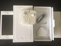 iPhone 6 Silver Unlock 16gb good condition box all accessory plus clear case