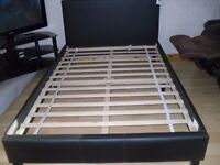 New faux leather double bed