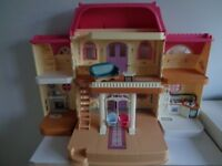 Fisher Price Vintage Loving Family Grand Mansion Dolls House. Fold Out.