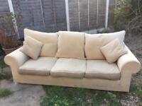 Free 2x three seater sofas