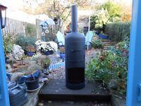 gas bottle log burner /chimeneas