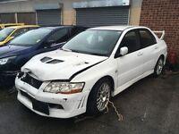mitsubishi lancer evo 7 salvage car damage fresh import