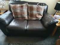 2&3 chocolate brown sofas used but good condition