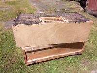 Racing pigeon training crates.