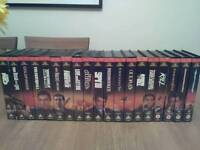 James Bond collection on video VHS.