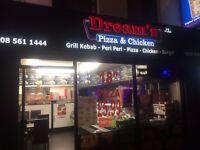 Refurbished pizza & chicken take-away ''Dream's'' for sale/rent in Uxbridge