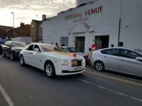 wedding car hire/ Rolls Royce/ Phantom/ Ghost/ Limo/ Classic Car/ S Class
