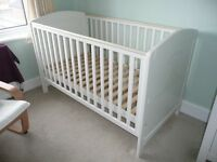 Humphrey's corner white cot bed (used)