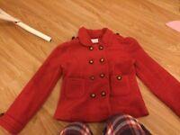 Red next fleece military jacket 6