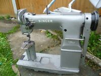SINGER Twin Needle , NEEDLE FEED Post bed for Upholstery, SHOES, TENTS,