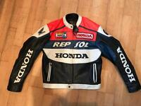Real leather Repsol jacket