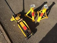 Trolley Jack and Axle Stands Pair