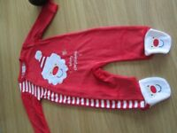 CHRISTMAS BABYSUITS AGES 0.3.UP TO 12 MONTHS NEW