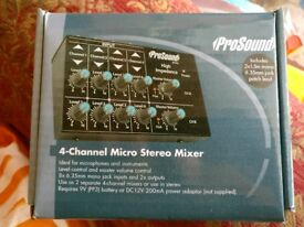 Pro sound 4 channel micro mixer