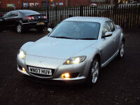 MAZDA RX-8 PS 231 6 SPEED LOW MILEAGE ONE OWNER FROMNEW+LEATHERSEATS+XENONS+SERVICEHISTORY+LONG MOT