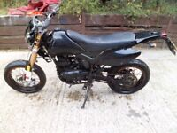 2013 PULSE ADRENALINE XF GY125 125 SUPER MOTO SOLD AS SPARES OR REPAIR WITH KEY AND V5