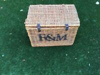 Fortnum and Mason wicker hamper basket