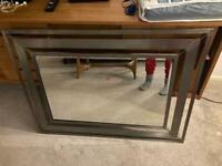 Large metal mirror - 100 x 75 cms