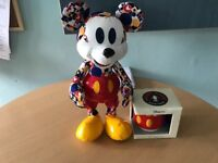 New special limited edition March Mickey memories plush bear bargain £100