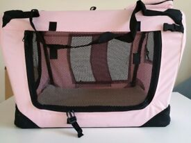 Pink and Black Lightweight Pet Carrier