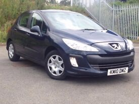 2010 (MAY 10) PEUGEOT 308 1.6 VTi S - Hatchback 5 Door - AUTOMATIC - Petrol - BLUE *VERY LOW MILES*