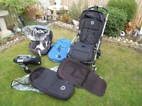 Bugaboo bee and car seat with all covers and extras.